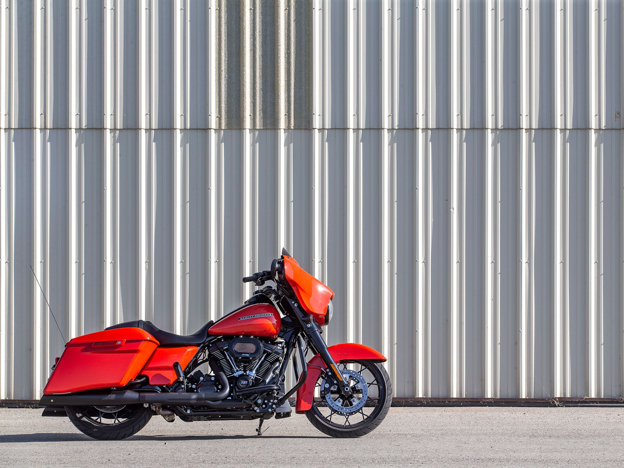 The Harley-Davidson Street Glide Special in Performance Orange retails for $28,199 with the Milwaukee-Eight 114.Jeff Allen