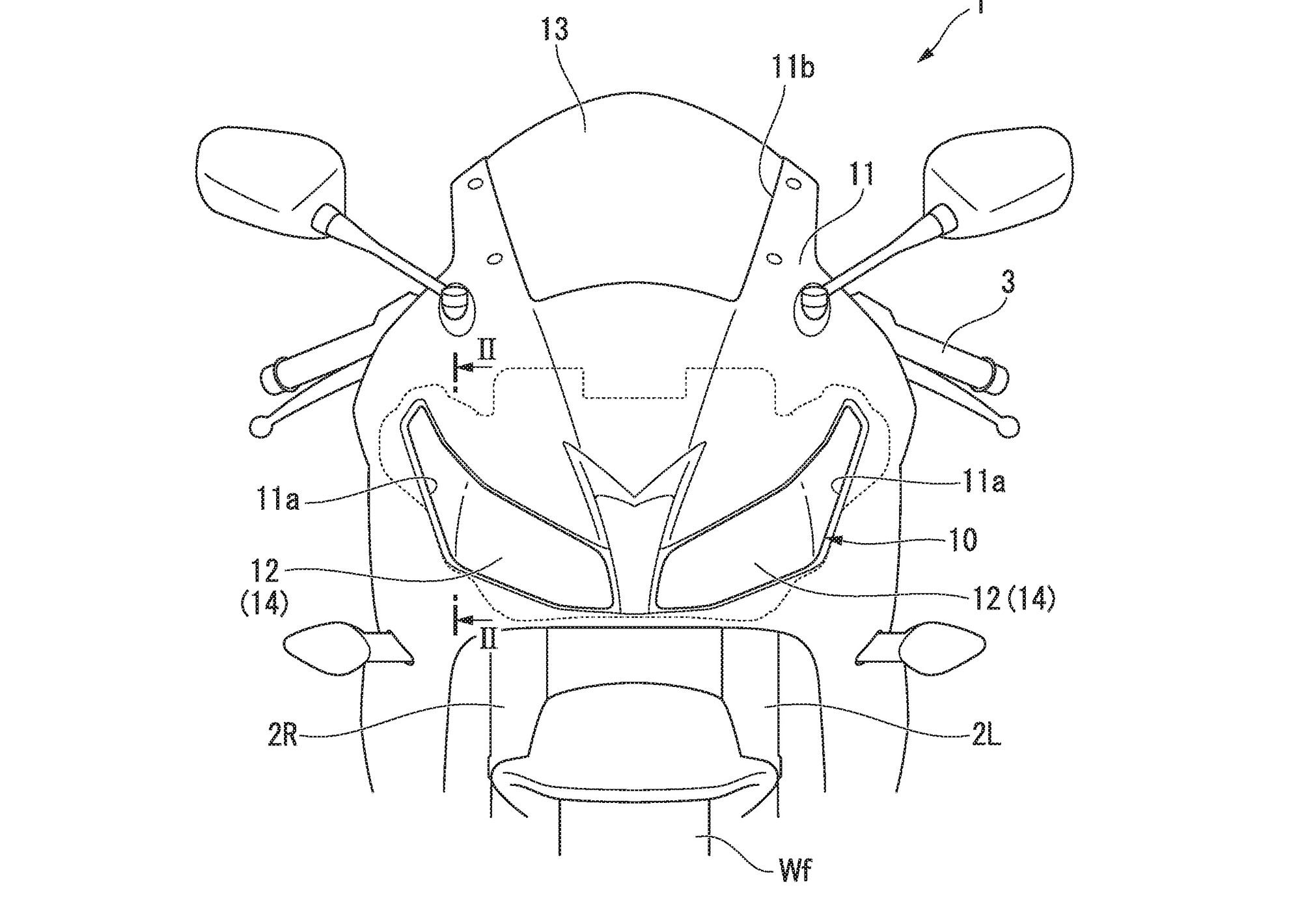 Honda's patent for motorcycle camera sensors shows they're more easily hidden (in the headlights in this case) than radar.