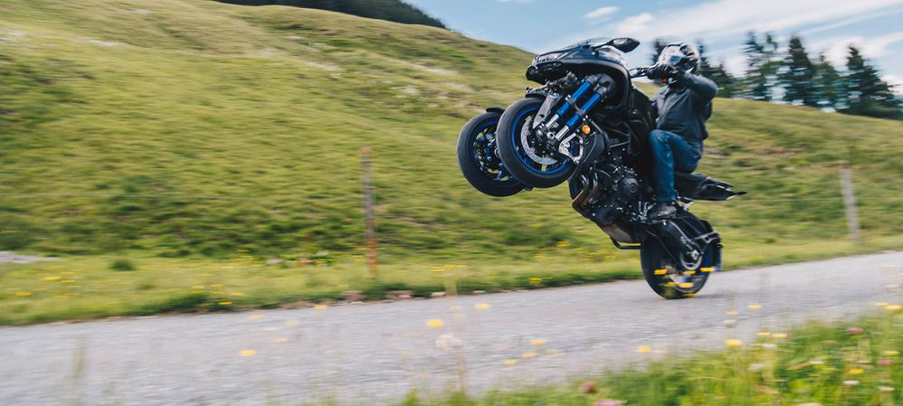 Surprise! Yamaha's Niken Does Wheelies And Rides Like A
